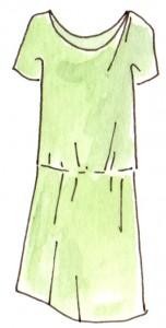 robe femme deux empiecement